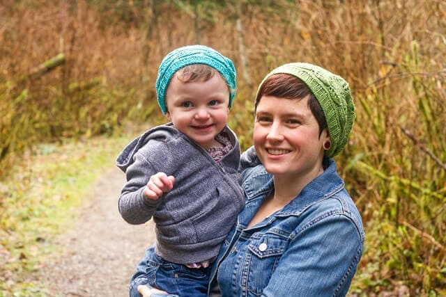 Sword Fern Hat by Alexa Ludeman, knit in SweetGeorgia Merino Silk Fine