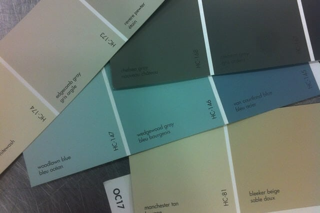 Revere Pewter, Chelsea Grey, Manchester Tan