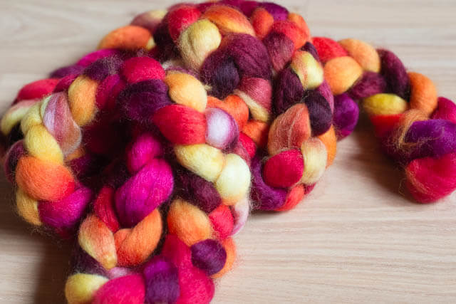 """Indian Summer"" for 2013-09 Club on Superwash BFL+Nylon"