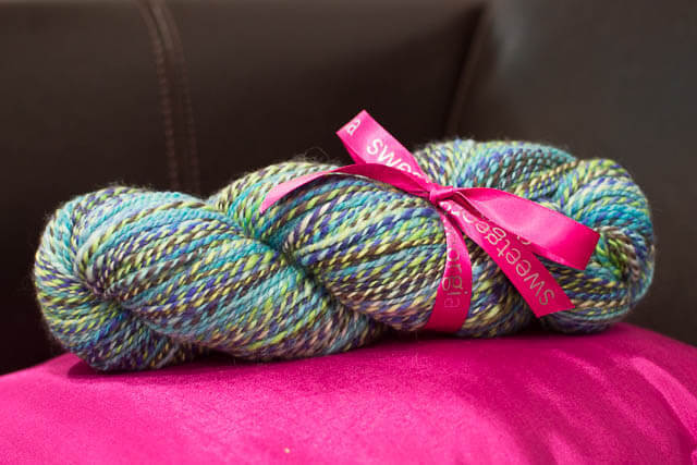 Gift of handspun yarn