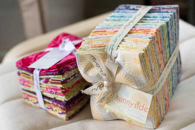 Fat Quarter Bundles: Kate Spain's Sunnyside from Moda Fabrics and Joel Dewberry's Heirloom from Free Spirit Fabrics