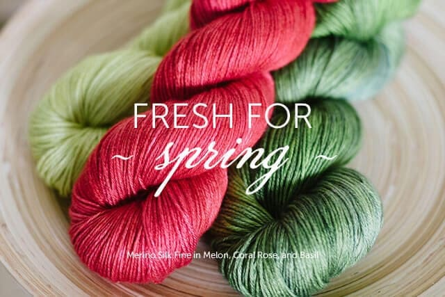Fresh for Spring: Melon, Coral Rose, and Basil on Merino Silk Fine