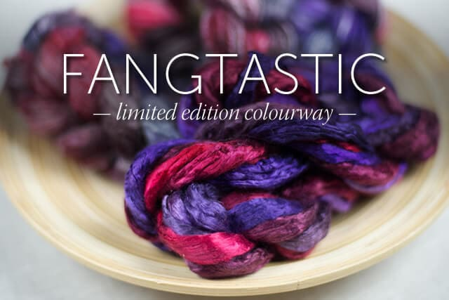 Fangtastic - limited edition colourway for Spinzilla 2014